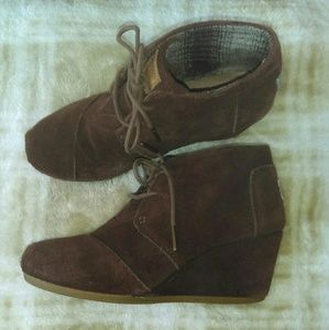 Toms wedges boots.  Size 7